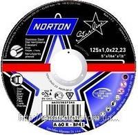 Диск отрезной по металлу Norton «Starline» 125*1.0*22,23