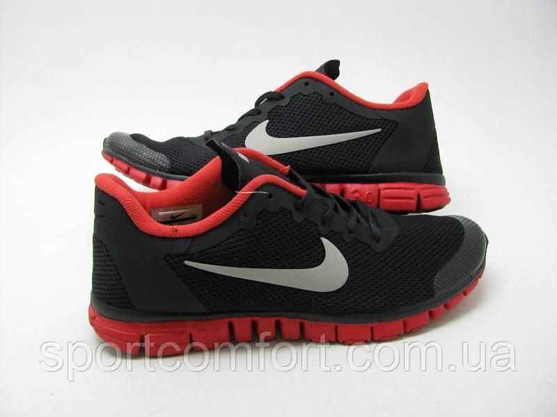 Кроссовки Nike Free 3.0 V2 All черные c красным