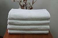 "Махровое полотенце без бордюрное 70Х140 ""Люкс"" Белое 420"
