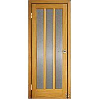 Межкомнатные двери ТМ Галерея Дверей Модель Трояна ПОО светлый дуб