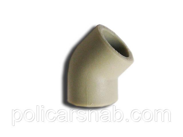 Полипропиленовый угол 45° Ду20мм