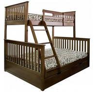 Кровать трехспальная Лола семейная из натурального дерева