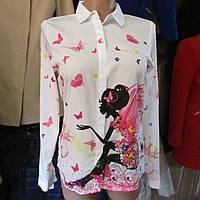 Блузка турецкая с сердечками
