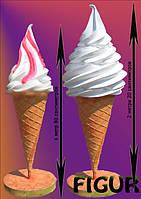 Макет Мороженое рожок для бара,ресторана,кафе,Муляж-подставка мороженог