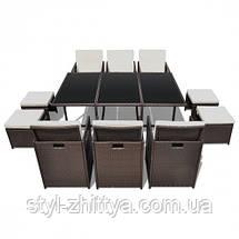 Комплект: стіл + 6 крісел + 4 табурети, фото 2