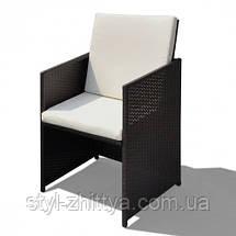Комплект: стіл + 6 крісел + 4 табурети, фото 3