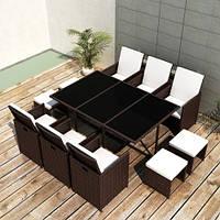 Комплект: стіл + 6 крісел + 4 табурети, фото 1