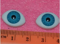 Глазки  кукольные голубые 14266-1  упаковка 25 пар