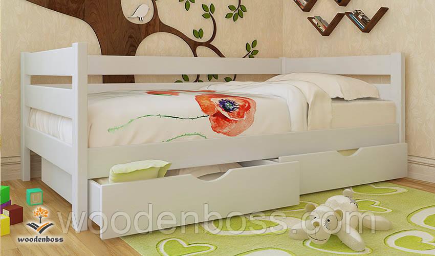 """Кровать детская подростковая от """"Wooden Boss"""" Амели (спальное место  90 см х 190/200 см)"""