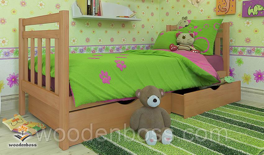 """Кровать детская подростковая от """"Wooden Boss"""" Анет Мини  (спальное место  80 см х 190 /200 см)"""