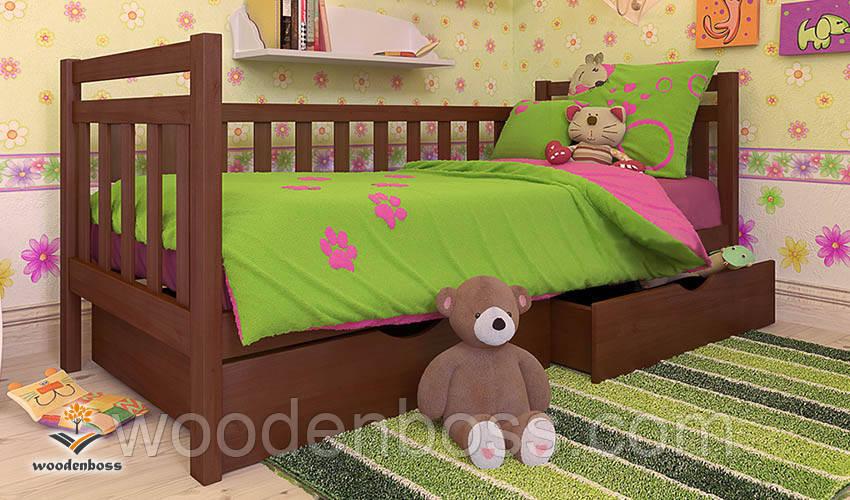 """Кровать детская подростковая от  """"Wooden Boss"""" Анет (спальное место  80 см х 190/200 см)"""
