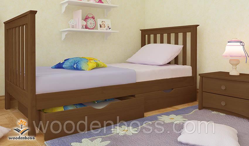 """Кровать детская подростковая от """"Wooden Boss"""" Ариана Мини (спальное место  80 см х 190/200 см)"""