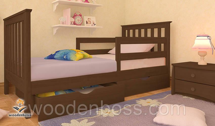 """Кровать детская подростковая от """"Wooden Boss"""" Ариана Люкс  (спальное место  70 см х 140 см)"""