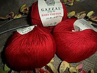 Gazzal Baby Cotton (беби коттон)  3439 темно-красный