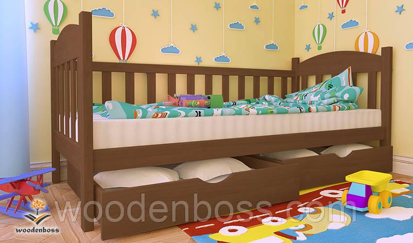 """Кровать детская подростковая от """"Wooden Boss"""" Флави  (спальное место  90 см х 190/200 см)"""
