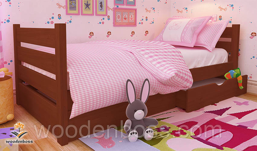 """Кровать детская подростковая от """"Wooden Boss"""" Карина Мини  (спальное место  70 см х 140 см)"""