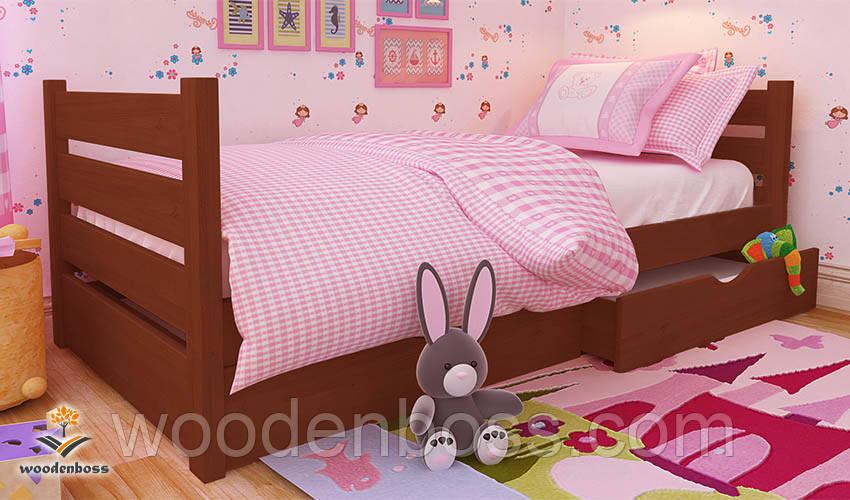 """Кровать детская подростковая от """"Wooden Boss"""" Карина Мини  (спальное место  90 см х 190/200 см)"""