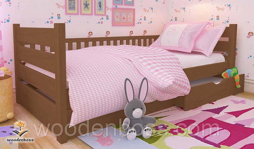 """Ліжко дитяче підліткове від """"Wooden Boss"""" Каріна (спальне місце: 80 см х 190/200 см)"""
