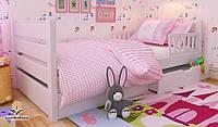 """Кровать детская подростковая от """"Wooden Boss"""" Карина Люкс  (спальное место  80 см х 190/200 см)"""
