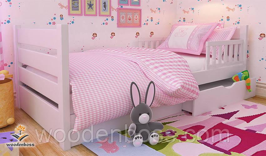 """Кровать детская подростковая от """"Wooden Boss"""" Карина Люкс  (спальное место  90 см х 190/200 см)"""