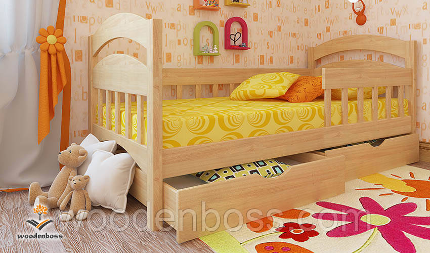 """Кровать детская подростковая от """"Wooden Boss"""" Селеста Экстра  (спальное место  90 см х 190/200 см)"""