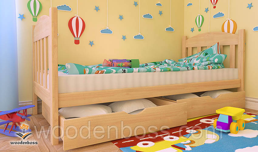 """Кровать детская подростковая от """"Wooden Boss"""" Флави Мини  (спальное место 70 см х 140 см)"""