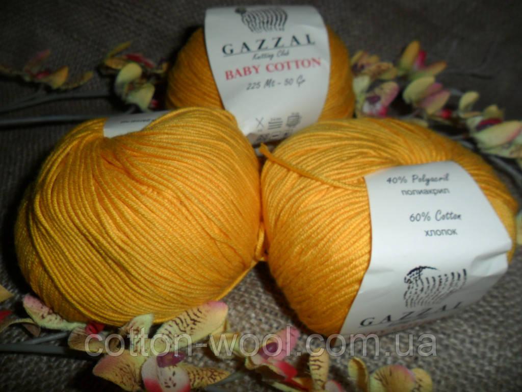 Gazzal Baby Cotton (беби коттон) 3417 желтый