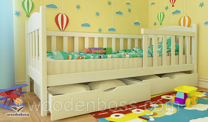 """Кровать детская подростковая от """"Wooden Boss"""" Флави Экстра  (спальное место  70 см х 140 см)"""