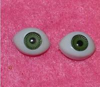 Глазки  кукольные  зелёные 14268-1 упаковка 50 шт