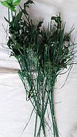 Ветки с листиками (заготовка для головок цветов), в-36 см,(1,50\1) (цена за 1 шт. + 0,5 гр.)