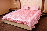 Покрывало атласное розовое