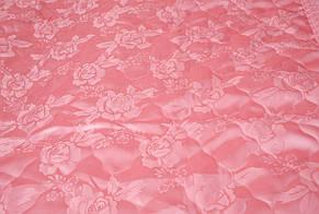 Покрывало атласное розовое 180*200 и подушки 50*70, фото 2