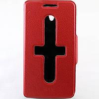 Чехол-книжка для Lenovo S650, боковой, Pielcedan, Красный /flip case/флип кейс /леново