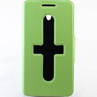 Чехол-книжка для Lenovo S650, боковой, Pielcedan, Лайм /flip case/флип кейс /леново