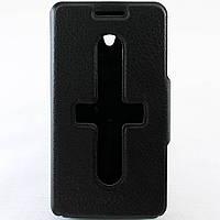 Чехол-книжка для Lenovo S650, боковой, Pielcedan, Черный /flip case/флип кейс /леново