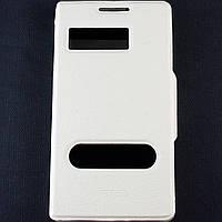 Чехол-книжка для Lenovo P780, боковой, Pielcedan, Белый /flip case/флип кейс /леново