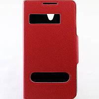 Чехол-книжка для Lenovo S890, боковой, Pielcedan, Красный /flip case/флип кейс /леново