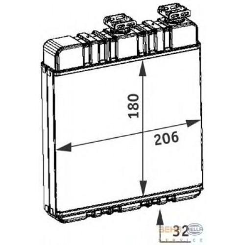 Радиатор печки Opel Zafira B 2005- (метал) 210*180*32мм по сотах KEMP