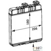 Радиатор печки Opel Astra G Zafira 210*180*32 1618142 металл