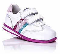 Кожаная обувь для девочки кроссовки для девочки  белые ортопедические 21,22 Tutubi
