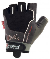 Перчатки для фитнеса, зала Power System серые из фактурной ткани