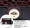 Женский клатч Lykanefu Burgundy+Black, фото 6