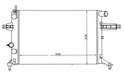 Радиатор Оpel Аstra G (1.4-1.6-1.8-2.0 механика АС-) 540*378мм по сотах KEMP