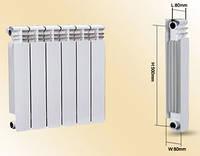 Алюминиевый радиатор SAKURA 500х80