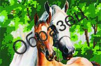 Схема для вышивки бисером «Конь и лошадь»