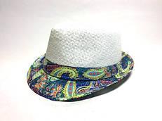 Шляпа Челентанка (White & Blue)