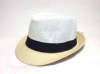 Шляпа Челентанка (White & Beige)