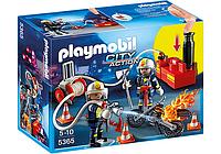 Конструктор Playmobil 5365 Пожарники с водяным насосом, фото 1