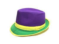 Шляпа Челентанка (Purple & Green)
