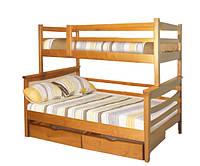 Кровать трехспальная Санта семейная из натурального дерева